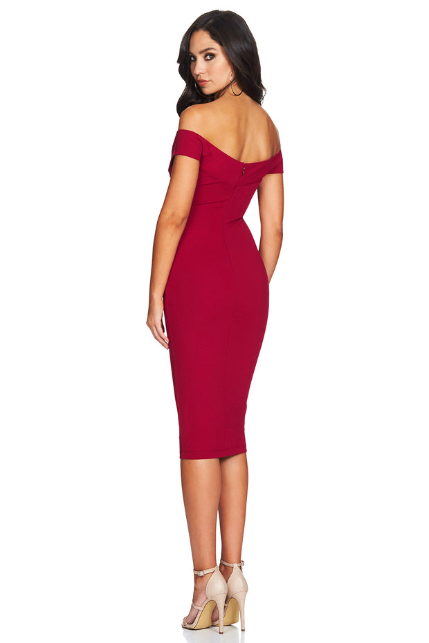Nookie Dolly Midi Dress - Ruby - SHOPJAUS - JAUS