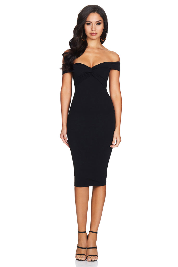 Nookie Dolly Midi Dress - Black - SHOPJAUS - JAUS