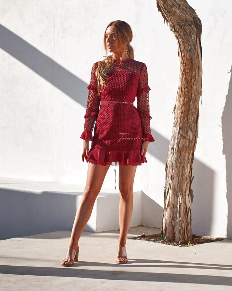 Parson Dress - Red - SHOPJAUS - JAUS