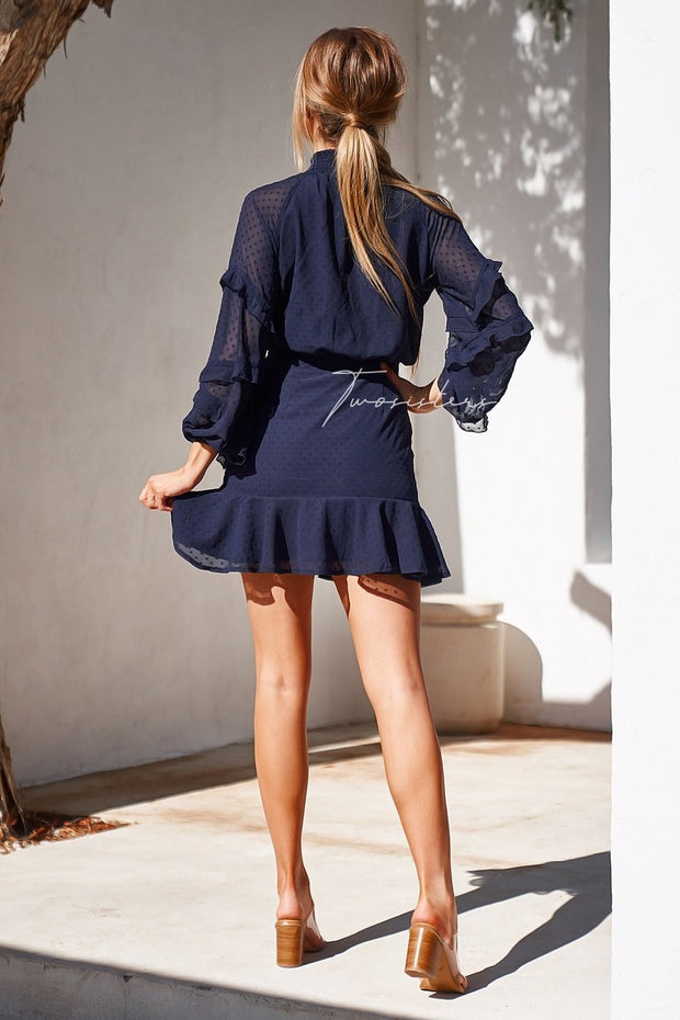 Piper Dress - Navy - SHOPJAUS - JAUS