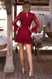 Preen Dress - Red - SHOPJAUS - JAUS