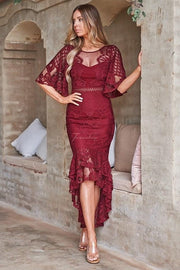 Reyna Dress - Red - SHOPJAUS - JAUS