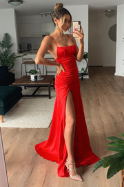 Reyna Maxi Dress - Red - SHOPJAUS - JAUS