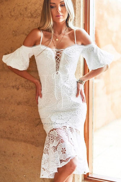 Riana Dress - White
