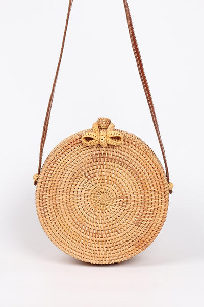 Round Straw Bag - SHOPJAUS - JAUS