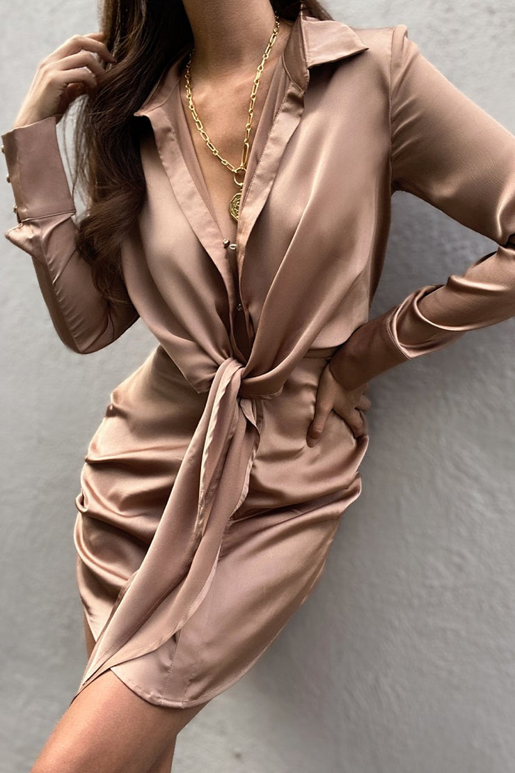 Aja Mini Dress - Mocha