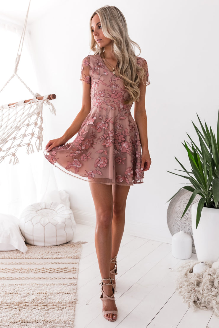 Saskia Dress - Rose - SHOPJAUS - JAUS