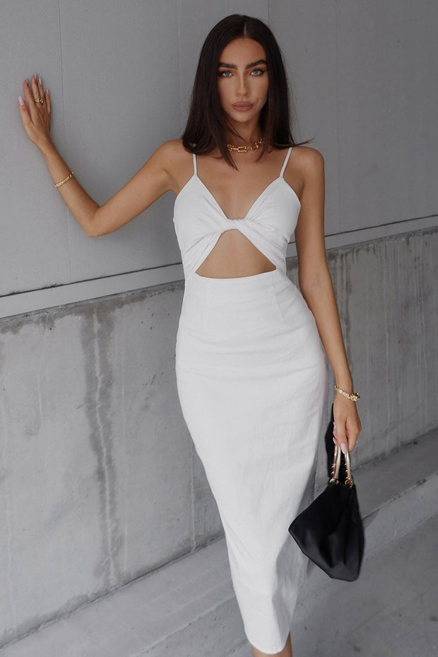 Eden Midi Dress - White