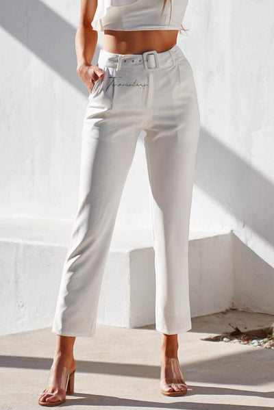 Shannon Pants - White - SHOPJAUS - JAUS