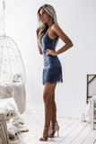 Shimmy Dress - Steel Blue - SHOPJAUS - JAUS