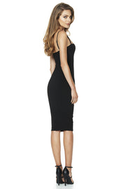 Nookie Charlize Strap Midi Dress - Black - SHOPJAUS - JAUS