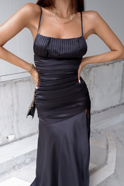 Reyna Maxi Dress - Black - SHOPJAUS - JAUS