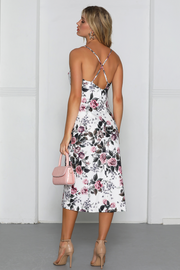 Harmony Slip Dress - White Floral - SHOPJAUS - JAUS