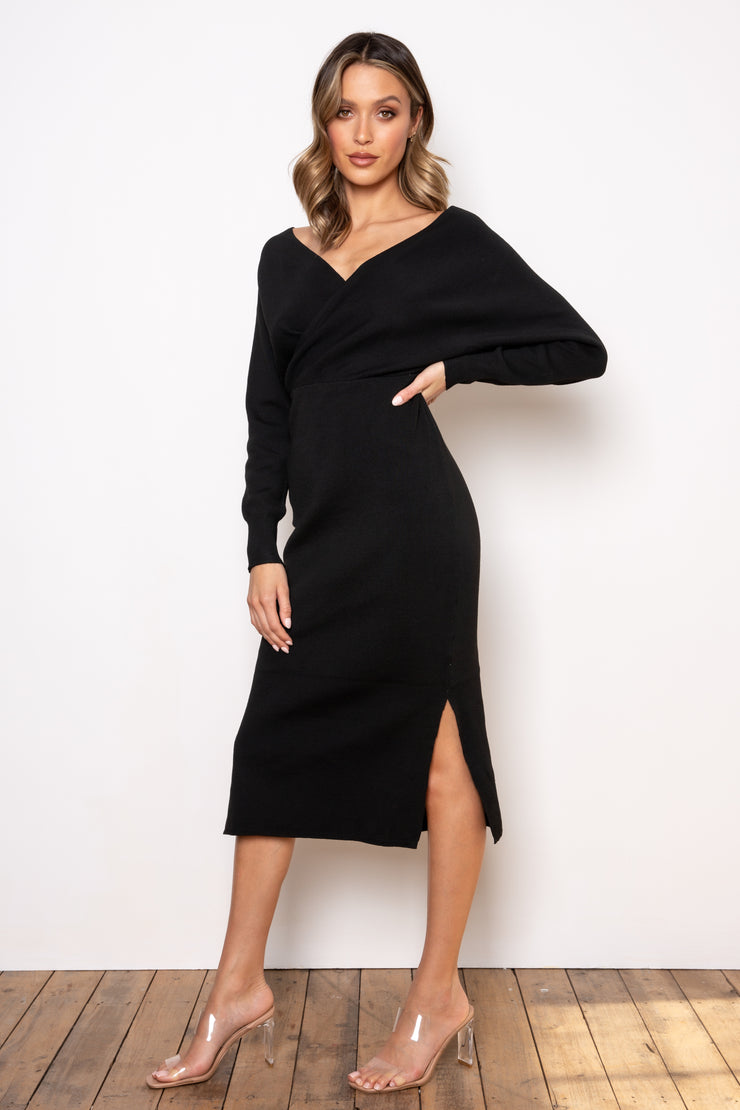 Margot Knit Dress - Black