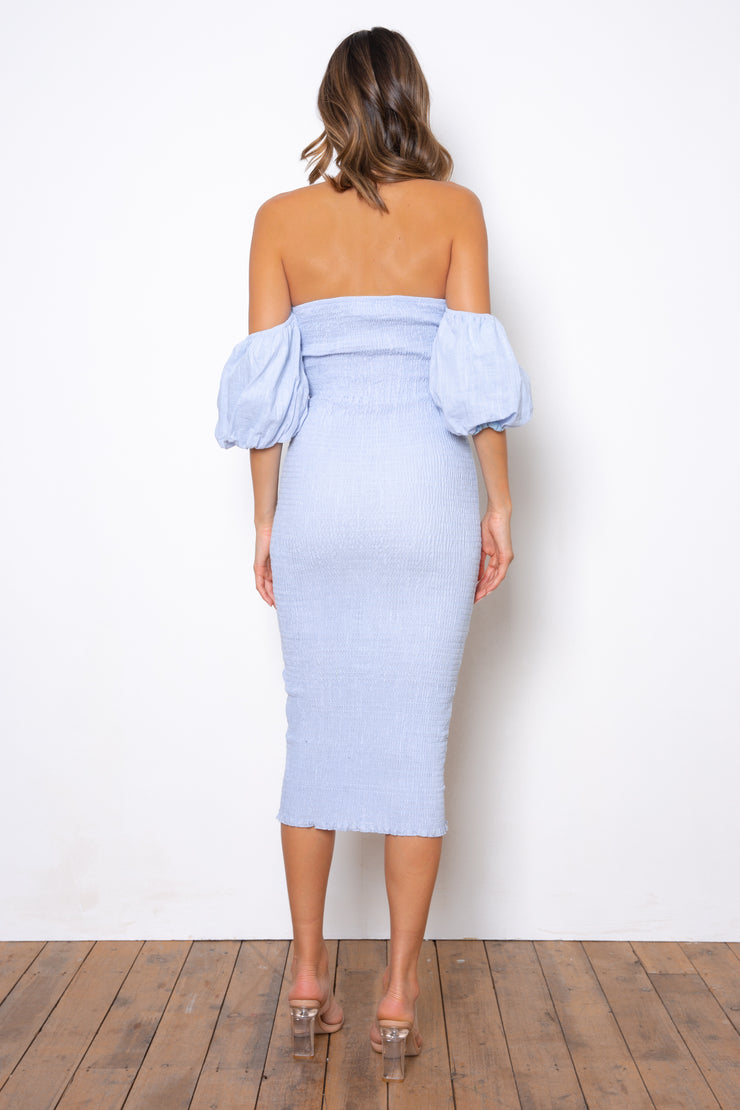 Sweetie Midi Dress - Baby Blue