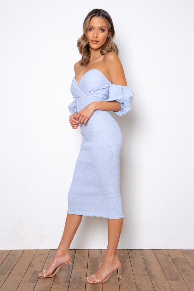 Sweetie Midi Dress - Baby Blue (PREORDER)
