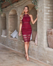 Tamsin Dress - Red - SHOPJAUS - JAUS