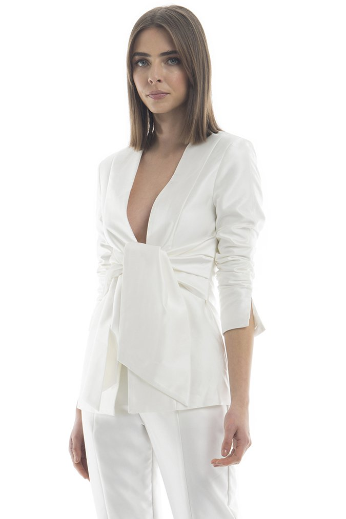 Misha Collection Tatiana Blazer - Ivory - SHOPJAUS - JAUS