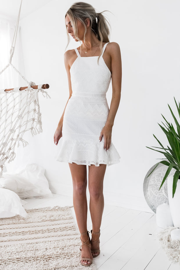 Shona Dress - White (PREORDER) - SHOPJAUS - JAUS