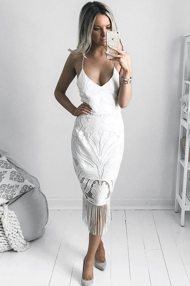 Khaleesi Dress - White - SHOPJAUS - JAUS