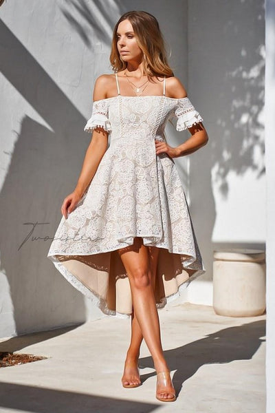 Megan Dress - White - SHOPJAUS - JAUS