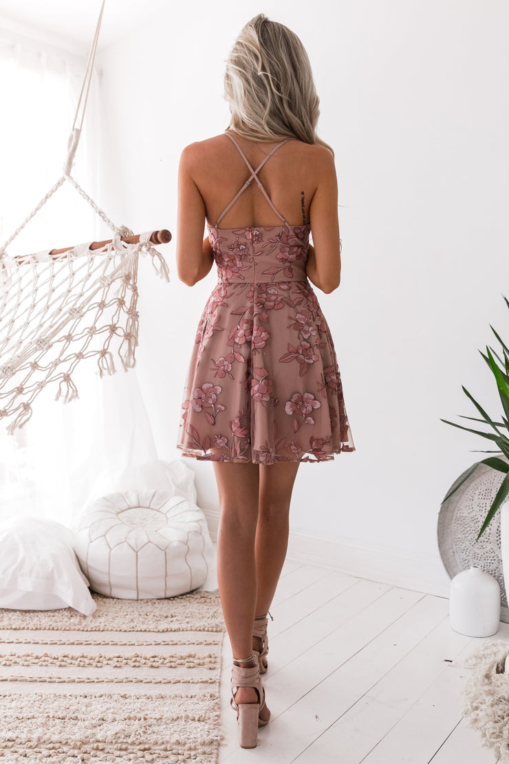 Sassy Dress - Embroidery Rose - SHOPJAUS - JAUS