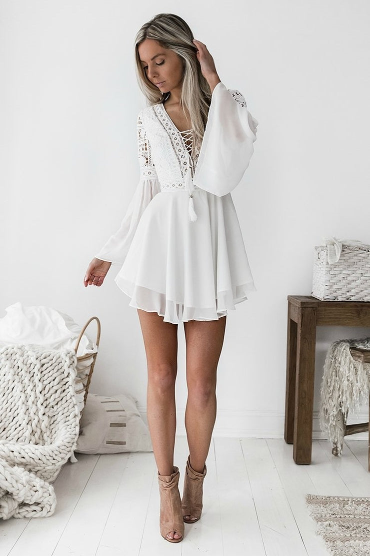 Alyse Dress - White - SHOPJAUS - JAUS