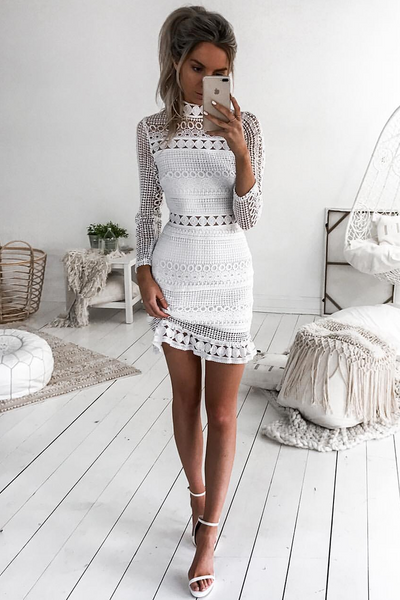 Riverdale Dress - White - SHOPJAUS - JAUS