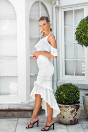 Victoria Dress - White - SHOPJAUS - JAUS
