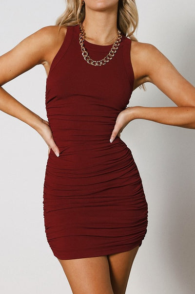Essence Dress - Wine