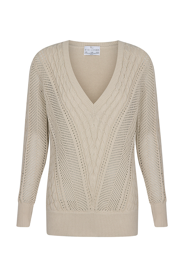 Novah Knit Sweater - Beige