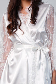 Satin Lace Robe - SHOPJAUS - JAUS