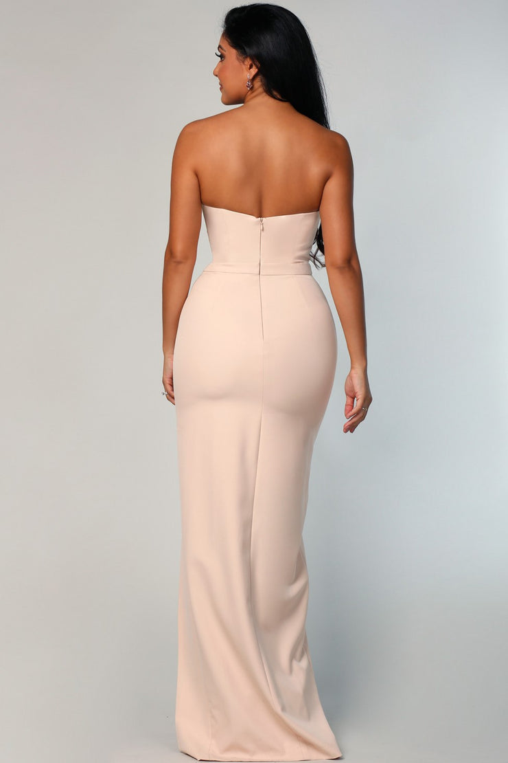 Kelly Pencil Dress - Nude - SHOPJAUS - JAUS