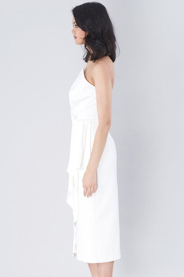 Stellina Midi Dress - Ivory - SHOPJAUS - JAUS