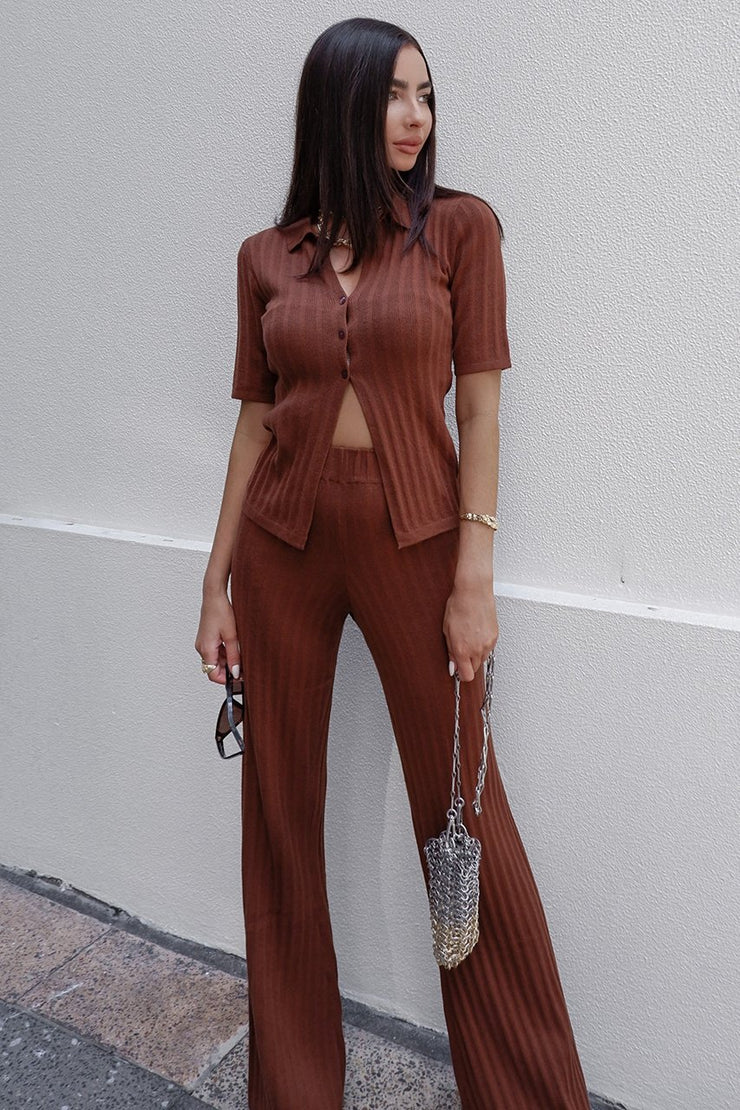 Hailey Top - Chocolate