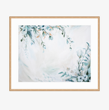 """Sea Glass Floral"" Framed print"