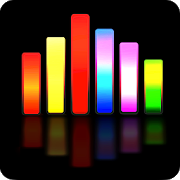 illustration of Sound Spectrum Analyzer colorful bars