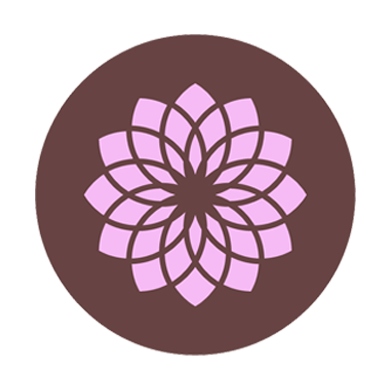 illustration of Crown Chakra brown purple