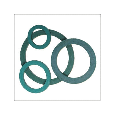 different sizes of blue green rubber rings interconnected with each other