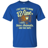 Save Animals & Drink Wine T-Shirt