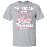 Physician By Day Princess By Night Custom Ultra Cotton T-Shirt
