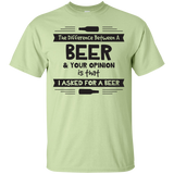 Beer Opinion Black Version T-Shirt