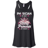 Physician By Day Princess By Night Flowy Racerback Tank