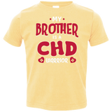 My Brother Is A CHD Warrior Toddler Jersey Tee