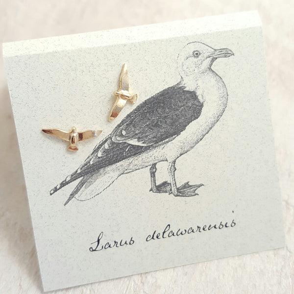 Gold Seagull earring card