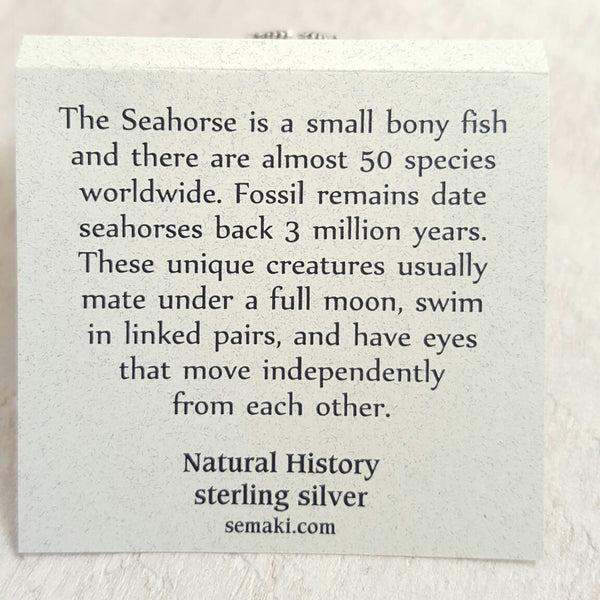 Back of Seahorse card