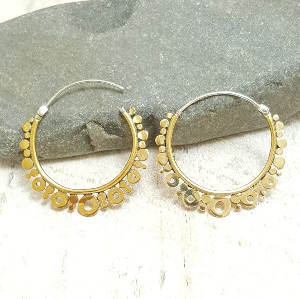 Small Venus Brass Hoop Earrings