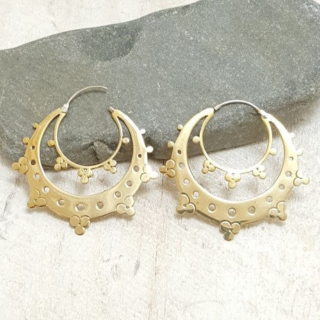 Prana Brass Hoop Earrings