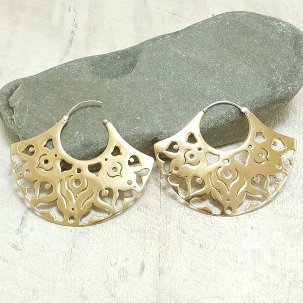 Ibo Brass Hoop Earrings