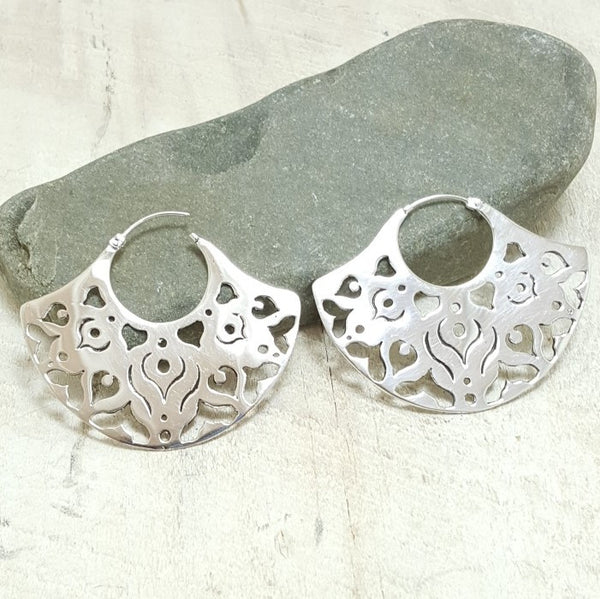 Ibo Silver Hoop Earrings